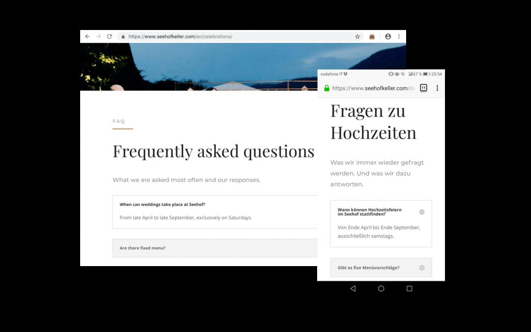 Seehof Keller Website – Responsive Webdesign